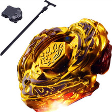 Yellow Beyblade Metal Fusion 4D Set Metal Fury Fighting Top Gold Beyblade Classic Toys With Launcher Children Gift TL11