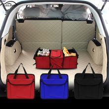 Car Trunk Storage Container Bag Foldable Multi-function Pack Insulation Storage Bags 3 Layers Car Folding Storage Box Back Set(China)