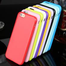 Promotions ! 12 Candy Color Soft TPU Rubber Skin Cover Phone Case For iPhone 5 5s SE Mobile phone case Bag(China)
