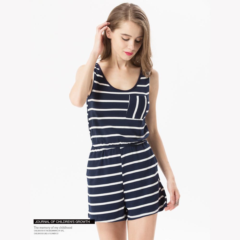 Siskakia mody młodzieżowej Letnie nastolatek dziewczyny Playsuit Przebrania paski patchwork slim fit krótkie elegancki 100% bawełna odzież różowy 9