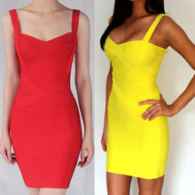 8 colors celebrity bandage dress strap sexy cocktail party homecoming dresses 2015(China)