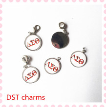New Delta style dangle charms 4 designs DST bracelet necklace DIY accessory alloy 18mm pendant charms,customized mixed OPC001