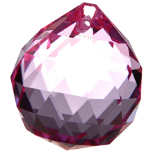 CNIM Hot 40mm Vintage Crystal PINK Feng Shui Ball Placed in window ornament make Rainbow