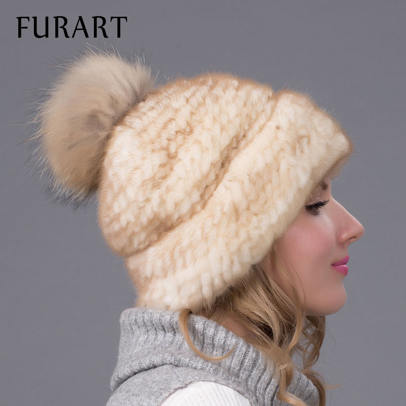 Russia winter hats for women genuine mink fur hat with whole silver fox fur top fashion elegant beanies high-end female cap BZ06Îäåæäà è àêñåññóàðû<br><br>