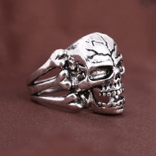 H:HYDE Men bague Gifts 7 Designs Stainless Steel animal Head Skull Ring For Men Hot Cool Punk Male Ring Personality Style Bijoux