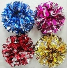 High quality cheerleading pompoms ( 20 pieces/lot) Cheering pompons Cheerleader supplies Color and handle can choose