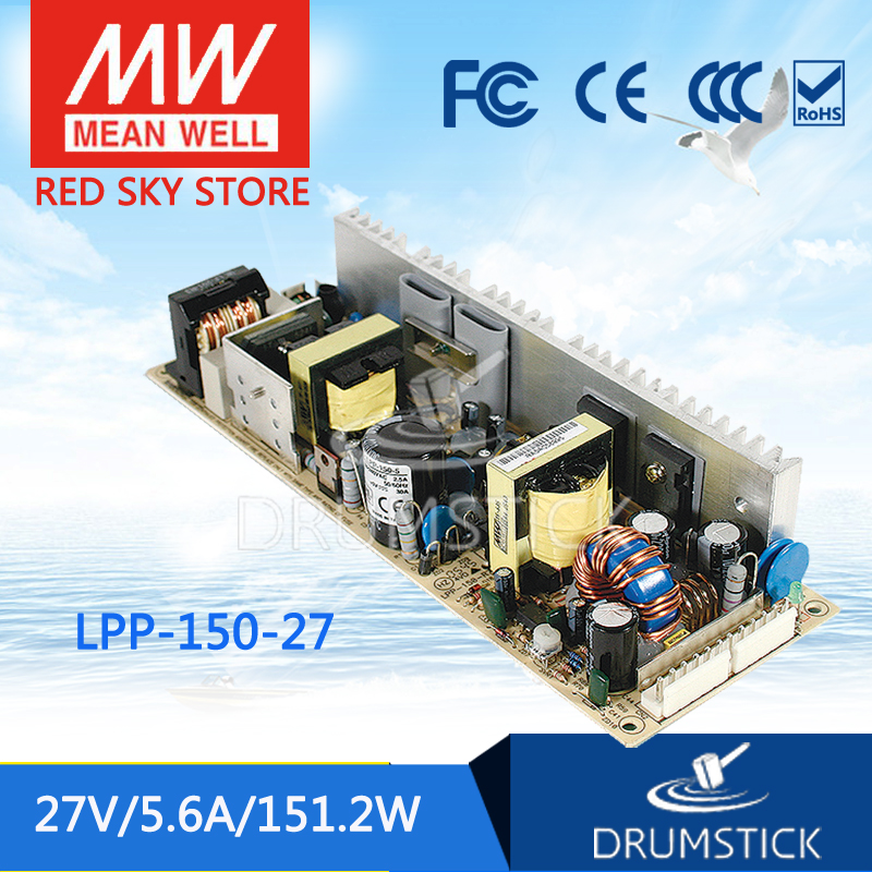 Genuine MEAN WELL LPP-150-27 27V 5.6A meanwell LPP-150 27V 151.2W Single Output with PFC Function<br>