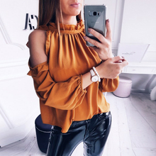 Buy New Arrival Women Chiffon Tops Casual O-Neck Long Sleeves Rfffles Patchwork Blouses Fashion Autumn Butterfly Sleeve Shirts for $7.79 in AliExpress store