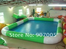 WP01 Lowest price 6m*8m inflatable water pool,  PVC swimming pool for water ball 0.9mm PVC  Repair kits + air blower for free