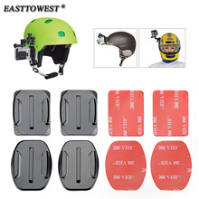 Go pro Accessories Gopro Mount 4 PCS Flat Curved Mount 3M Adhesive for GoPro Hero 4 3 Xiaomi Yi SJ4000 SJ5000 Action Camera