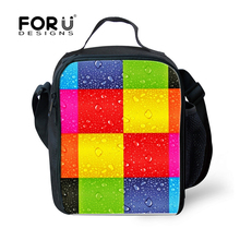 FORUDESIGNS Fashion Printing Lunch Bags for Women,School kids Insulated Thermal Lunch Food Box for Travel Picnic bolsa termica(China)