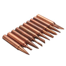 New Arrival 10pcs 900M-T Soldering Tip Pure Copper Electric Iron Head Series Solder Tool Hot Sale(China)