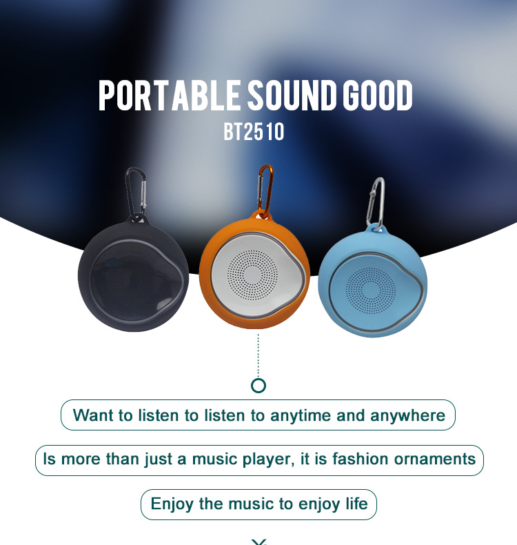 Mini Portable Outdoors waterproof bluetooth speakers non-slip led Hand free wireless Speaker with Silicone Case music Player