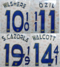 2013-2014 WALCOTT S.CAZORLA OZIL WILSHERE name numbering nameset name numbering nameset soccer patch soccer badge(China)
