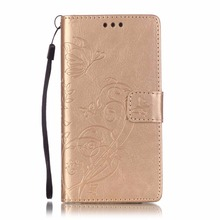 Carving Pattern Faux Leather Flip Case with Mount Stand for Huawei P8 Lite