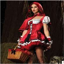 Halloween Cosplay Costumes Anime Princess Little Red Riding Hood Christmas Dress Game Suits(China)