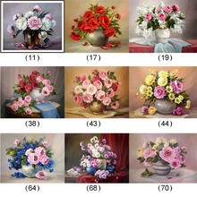 Diamond Embroidery Russia Flowers Red Rose Diy Diamond Painting Full Mosaic Picture Pattern Cross Stitch Rhinestone Oil Painting(China)
