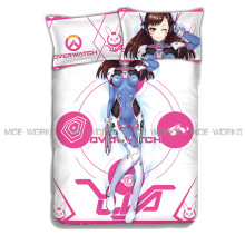 D.VA Fitted sheet OW Bed Sheets Anime Bedspread Cover King/Queen/Single/Twin size Over watch OW Bedroom Duvet Cover