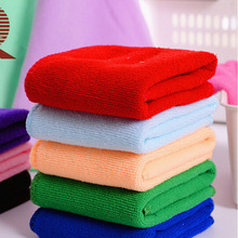 Promo 10pcs/set 25x25cm Small Square Luxury Soft Fiber Cotton Face Hand Car Cloth Towel House Cleaning tools Random Color