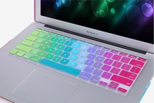 US Version Luxury Colorful 0.3mm Ultra Slim Silicone Membrane Keyboard Cover For Macbook Air 11 13 Pro 13 15 Pro 13 15 Retina