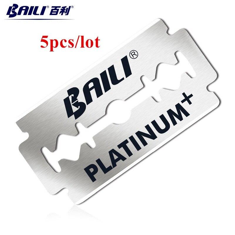 BAILI-10pcs-Men-s-Barber-Super-Sharp-Razor-Shaver-Blades-Double-Edge-Platinum-Stainless-Steel-for