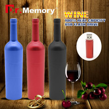 2016 OEM wine USB Flash Drive bottle pen drive memory Disk metal Pen Drive 4GB 8GB 16GB 32GB 64gb key usb metal flash drive