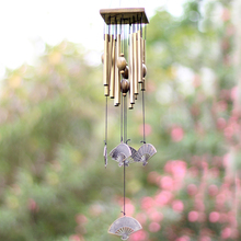 yazi 12 Tubes Fan Wind Chimes Patio Garden Yard Hanging Great Sound Windbells Home Decor Home Decor(China)