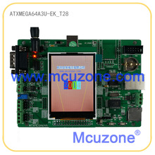 ATxmega64A3U-EK-T28 development board,12Bit ADC and DAC,7 USARTs, USB Device,320*240 TFT LCD, Ethernet, CAN, XMEGA64A3U ATMEL