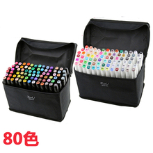 80 colors mark pen Animation manga Design Paint Sketch Copic Markers Drawing soluble pen cartoon graffiti posca art markers Pens