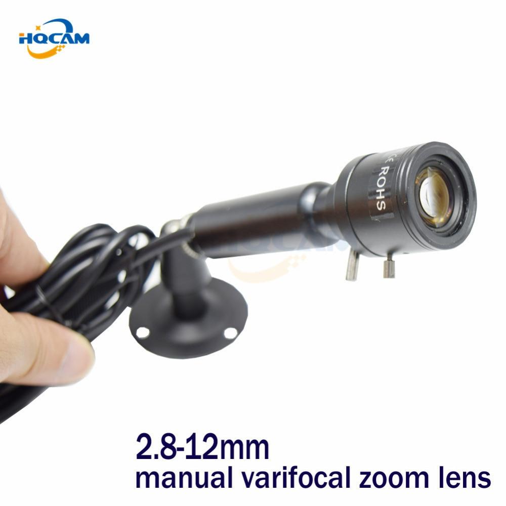 HQCAM OSD Menu 600TVL Sony CCD Color 2090+639\638 Mini Bullet Camera CCTV Security Camera 2.8-12mm manual varifocal zoom LENS<br>