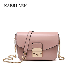 Kaerlark Limited Brand New 2017 Bolsas Mujer Women Small Chain Flap Messenger Bags Girl Woman Solid PU Leather Handbags WD0069(China)