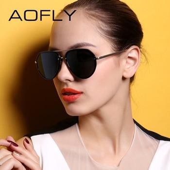 Aofly aviação óculos polarizados óculos de moda feminina óculos de sol polaroid condução tons de luxo feminino com caixa original af79144