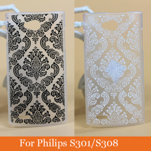 High Quality pattern Hard Plastic Case for Philips s301 308 PC Cover Cute Vintage Flowers design Cell Phone case