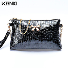 KEENICI Black Bow Plaid Fashion Women Crossbody Bag Female Shoulder Bags Party Purse Clutch Small Bag Women Messenger Bags