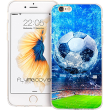 Coque Football Soccer Ball Clear Soft TPU Silicone Phone Cover for iPhone X 7 8 Plus Case for iPhone 5S 5 SE 6 6S Plus 4S 4 Case(China)