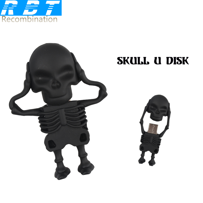 RBT USB Flash Drive Real Capacity High Speed Skeletons 8GB 16GB 32GB Memory Usb Stick 2.0 Pen Pendrive PC  -  sunper Store store