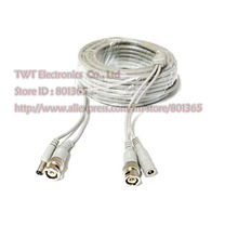 CCTV BNC Video Power  Premade Extension Cable  20 meter Grey color, Free shipping