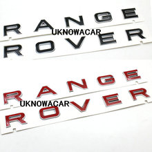 High Quality New Black Red 3D Hood front badge Letter emblem Sticker Decal Logo badge For Range rover
