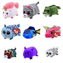 10CM Mini teeny tys Ty Plush Toys Beanie Boos Big Eyes fox unicorn Pocket  TSUM Candy pig Stuffed Doll Pink Owl TY Baby Kids Gift 555ffd9a945f