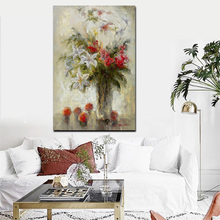 Abstract Floral Oil Painting HD Print Watercolor Lily Orchid in Vase on Canvas Pop Art Wall Picture For Living Room Sofa Cuadros