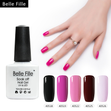 BELLE FILLE Gel Nail Polish Black Color UV LED Varnish UV Gel 2017 Fashion Varnish Art Wine Red Nail Gel Polish