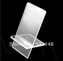 100PCS Free Shipping Clear Acrylic Mobile cell phone display stand holder racks Universal Wholesale
