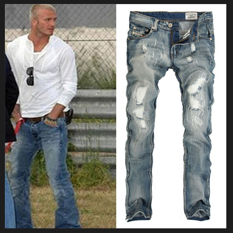 Online Blue Italian Fashion Brand And Disel Trousers Jeans For Men