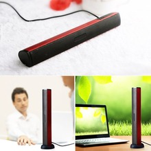 Dual Channel Wired Speakers 3W Laptop USB Portable Stereo Speakers Built-in Sound Card Sound Bar For PC Computer(China)