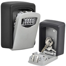 Key Storage Lock Box Wall Mount Holder 4 Digit Combination Safe Outdoor Security