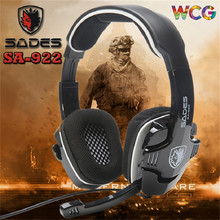 3 in 1 Brand Sades SA922 Pro PC Gaming Headset 7.1 Surround Sound Stereo Headphones Earphones with Mic for XBOX 360 PS3 PC Gamer