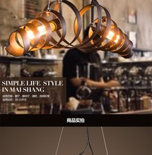 Loft Retro Pendant Lights Industrial Wrought Iron Pendant Lamps Cafe Restaurant Suspension Luminaire Light L750mm Free Shipping