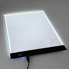 Ultra Thin A4 LED Light Stencil Touch Board Copy Painting Drawing Board Table Pad Dimmable EU/UK/AU/US Plug
