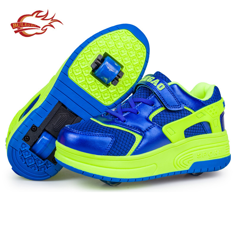 Sneakers With Wheels Wheelie Shoes Kids Shoes The New Double Ultra-light Net Cloth Boy Shoes Girl Children<br><br>Aliexpress