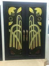 Hench custom design luxury wrought iron entry doors DDU shipping to USA home  HC-d5